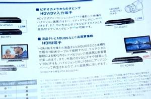 HDV/DV入力端子が搭載されていれば、i.LINKでハイビジョンと繋ぐことができる