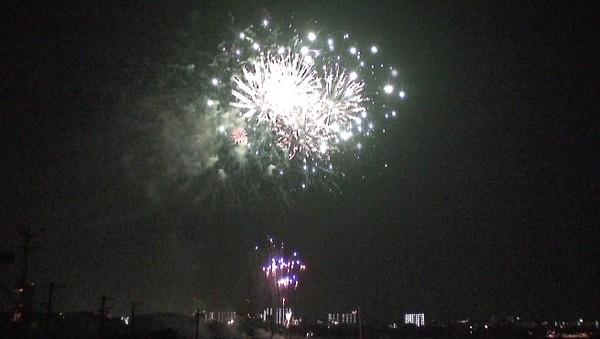 ハイビジョンビデオカメラで撮影した花火。その2
